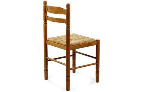 chaise bois paille chaise de salle à manger en bois paille jeanne 424