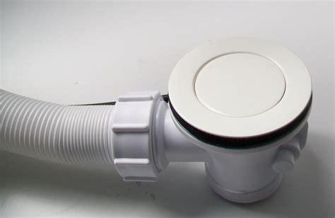bath pop  waste  overflow white  plumbers