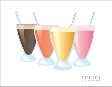 Milkshakes And Smoothies Clip Arts, Free Clip Art