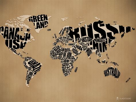 typographic world map by vladstudio on deviantart