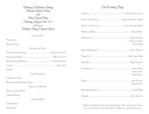 wedding program templates wedding programs fast inexpensive wedding programs and free templates