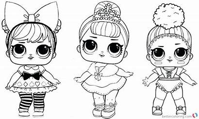 Lol Coloring Pages Doll Printable Dawn Dolls