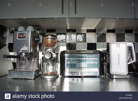 Modern Kitchen Appliances (coffee Machine, Bean Grinder