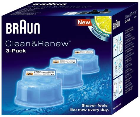 braun ccr pack clean renew men shaver hygienic cleaning refill
