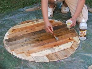 table bois huile de lin wrastecom With superior maison en tronc d arbre 1 construire une table de jardin en bois de palette sur