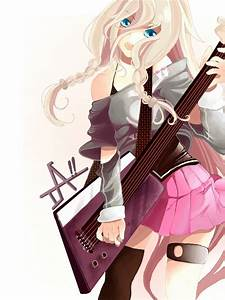Anime Music Cute Girl Play Guitar | Important Wallpapers