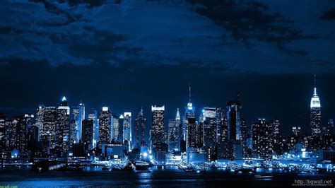 blue night city wallpaper picture background wallpaper hd
