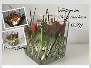Frühlingsdeko Im Glas : diy fr hlingsdeko tulpen im kerzenschein glas in glas tischdeko deco jana youtube deko ~ Orissabook.com Haus und Dekorationen