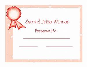 certificate templates 2nd prize winner certificate With first prize certificate template