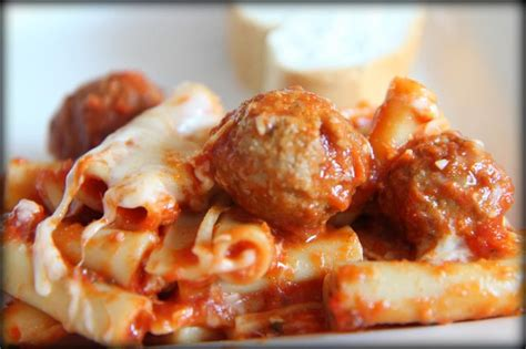 baked ziti with meatballs quick weeknight dinner baked ziti with turkey meatballs momadvice