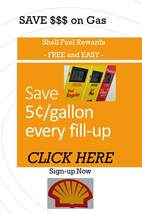 And are used with permission. Save 5¢/gal on every fill-up with Shell Fuel Rewards. Sign-up now - free and easy. No credit ...