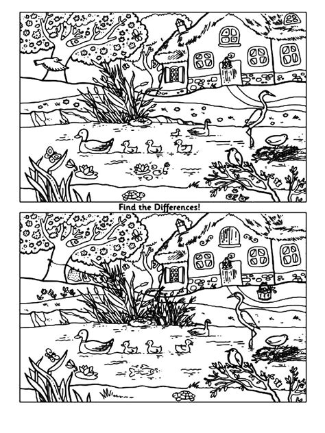 spot  difference coloring pages   print spot  difference coloring pages