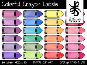 digital clipart colorful crayon labels printable crayola With crayon labels template