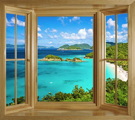 window illusion mural tropical st johns bay  adhesive