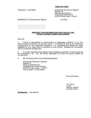 request letter  vehicle arrangement