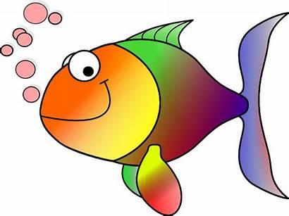 Rainbow Clip Fish Clker Vector Clipartix