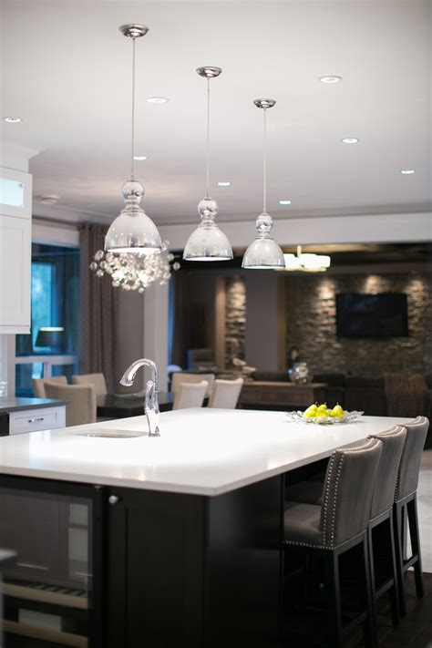 hanging pendant lights kitchen island mercury glass pendant kitchen contemporary with cabinetry
