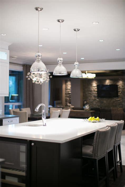 Kitchen Island Pendant Lighting Ideas - mercury glass pendant kitchen contemporary with cabinetry island kitchen pendants