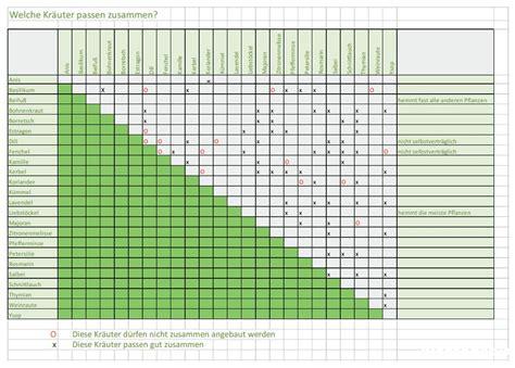 welche pflanzen vertragen sich tabelle welche kr 228 uter passen zusammen tabelle f 252 r gute nachbarn plantopedia