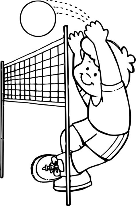 coloriage volleyball  imprimer