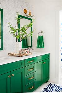 5 fresh bathroom colors to try in 2017 hgtv39s decorating for Best brand of paint for kitchen cabinets with wall hangings art