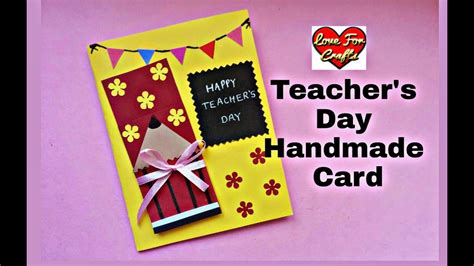 handmade teachers day card diy teachers day card youtube