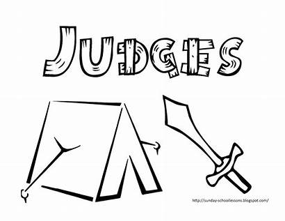 Judges Coloring Pages Sunday Bible Ehud Deborah