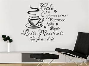 Sprüche Für Die Küchenwand : wandtattoo kaffee bei ~ Sanjose-hotels-ca.com Haus und Dekorationen