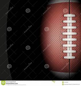 Dark Background Of American Football Ball  Vector Stock