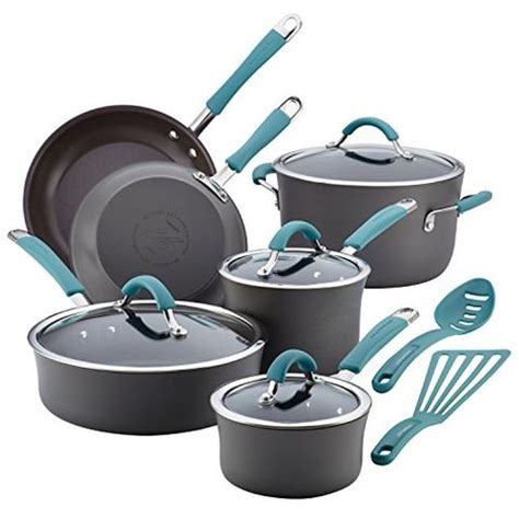 cookware ray rachael nonstick sets pans pots stick non
