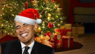 obama mistakenly receives early christmas card from defense contractor