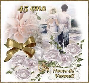 anniversaire de mariage 45 ans anniversaire de mariage noces d or etc