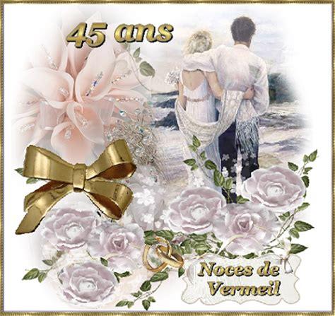 anniversaire de mariage 45 ans carte anniversaire de mariage noces d or etc