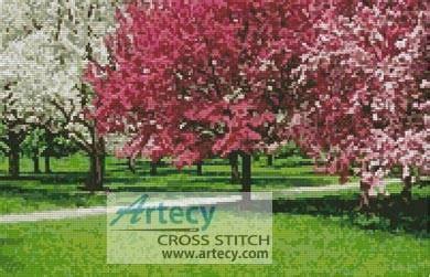 cherry blossoms cross stitch pattern flowers