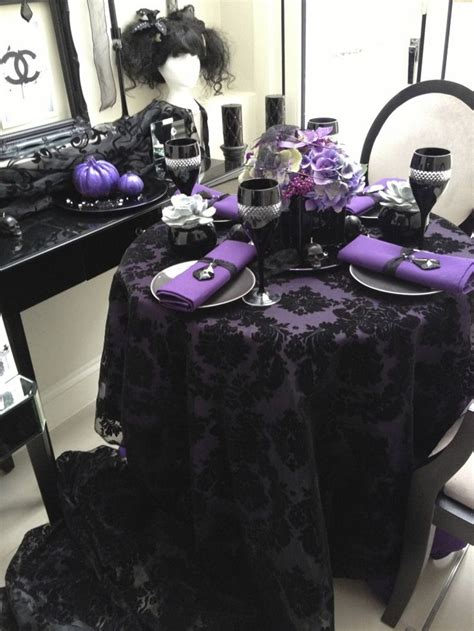 purple and black table settings 20 halloween inspired table settings to wow your dinner party guests