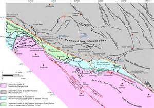San Andreas Fault Map Southern California