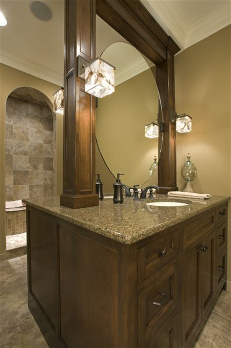 Master Bath With Twosided Vanity  Traditional Bathroom