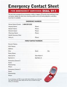 Babysitting Nanny Jobs Babysitting Emergency Contact Sheet