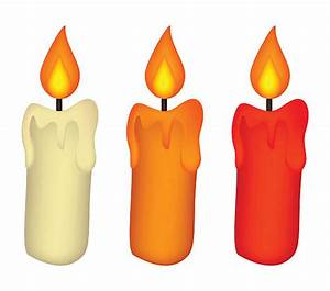 Candle clipart vector art - Pencil and in color candle ...