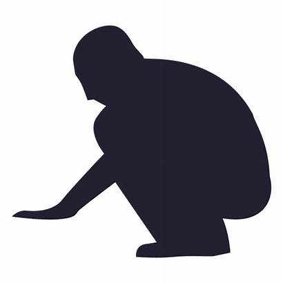 Silhouette Silueta Svg Hombre Homem Transparent Sitting