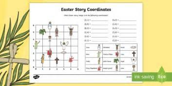 Easter Story Coordinates Activity Sheet  Ks2, Maths, Worksheet