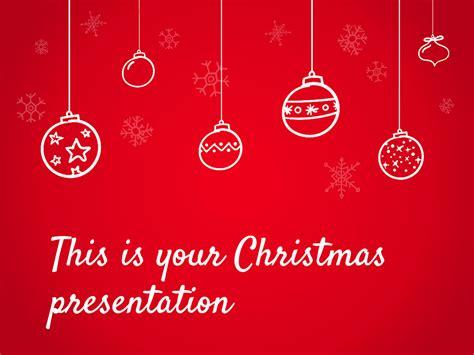 christmas powerpoint template  google  theme