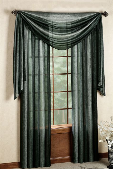 ombre decorative curtain panels black achim draperies