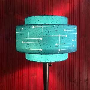 Mid Century Modern Style Fiberglass Lamp Shade Atomic
