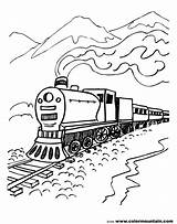 Train Coloring Steam Pages Locomotive Csx Engine Drawing Line Printable Scenery Mountain Diesel Getdrawings Boys Cars Mountains Getcolorings sketch template