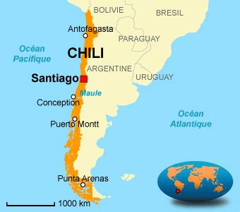 Santiago Du Chili Carte Du Monde by Chili Carte Du Monde Arts Et Voyages