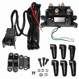12v Atv Utv Solenoid Relay Contactor   Winch Rocker Thumb