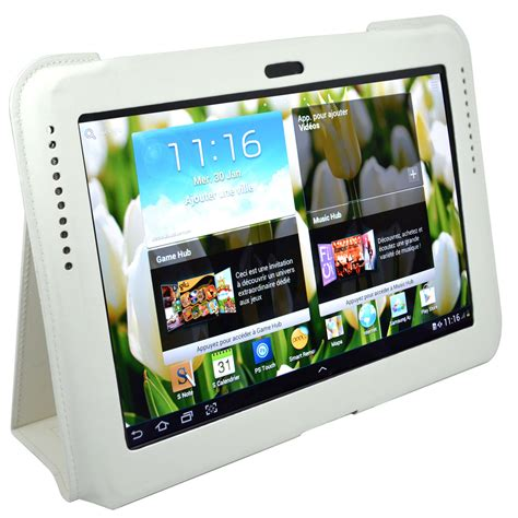 heden protection slim pour samsung galaxy tab ii 10 1 quot et galaxy note 10 1 quot blanche acchss10cw