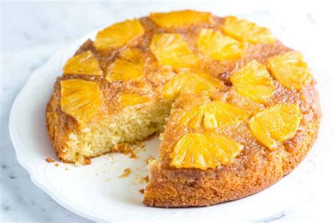 fresh pineapple upside  cake recipe
