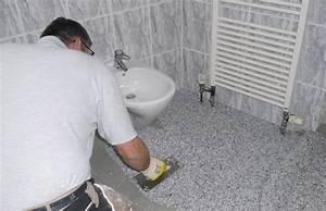Badsanierung Selber Machen : steinteppich im bad wohnraum creativ ~ A.2002-acura-tl-radio.info Haus und Dekorationen